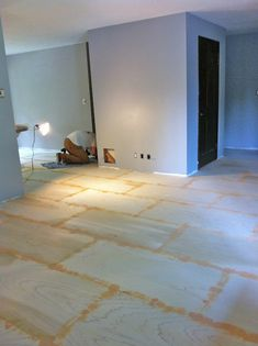 DIY:  Plywood Flooring - this is an awesome tutorial on installing a plywood floor - from what size panels to use, how to sand, staining tips, etc.