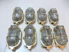 Rare vintage marine brass passage light set of 8 pics # 200