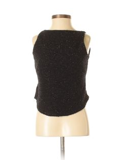 Poetry Clothing Sleeveless Top: Size 4.00 Black Women's Tops - New With Tags - $13.99