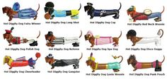 Hot Diggity Dog Wiener Figurines  59 Different figurines!