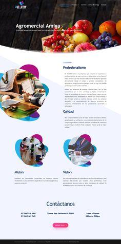 Diseño Web de Pagina - AGROMERCIAL AMIGA www.agram.com.mx, proyecto desarrollado en el 2019 por HostingPage.Com Design Portfolio Layout, Design Web, Blue Prints