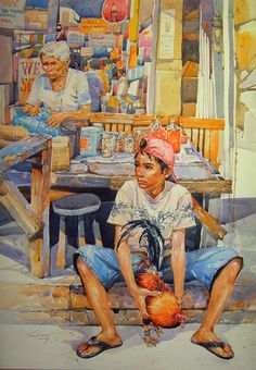 Buena Mano by SinkoSiete on DeviantArt Filipino Art, Filipino Culture, Quirky Art, Unique Art, Philippine Art, Philippine Houses, Philippines Culture, Chicken Art, A Level Art