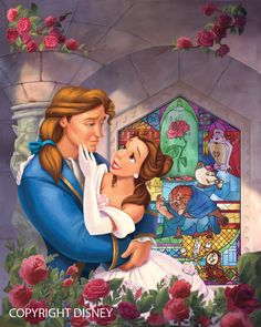 Disney Beauty and the Beast Book by WilliamFenholt on DeviantArt Disney Pixar, Walt Disney, Disney Nerd, Disney Couples, Disney Fan Art, Disney Love, Movie Couples, Disney Characters, Lilo Et Stitch