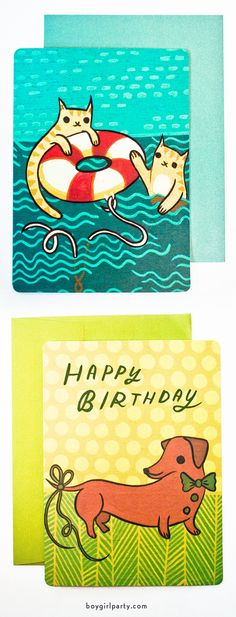 Colorful and fun greeting cards at http://shop.boygirlparty.com #boygirlparty #stationery
