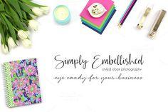 Styled Stock Photo - Desktop Mockup by Simply Embellished on @creativemarket