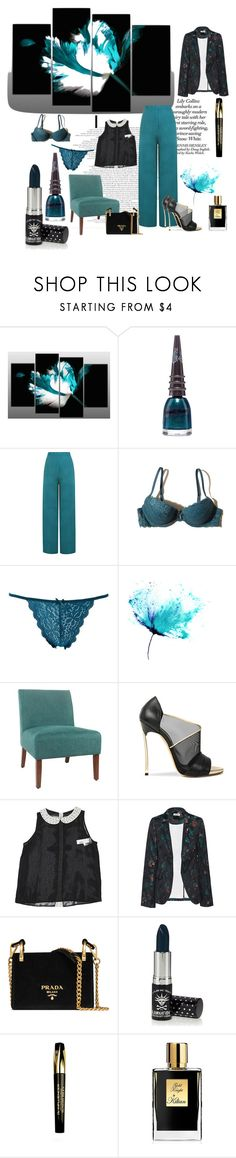 """Teales"" by karito-pinup ❤ liked on Polyvore featuring Manic Panic NYC, WearAll, Hollister Co., Charlotte Russe, Casadei, Metaphor, Zadig & Voltaire, Prada, Sunday Riley and Kilian"