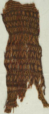 Brooklyn Museum: Egyptian, Classical, Ancient Near Eastern Art: Textile. Wool, sprang, accession no. 85.165.2