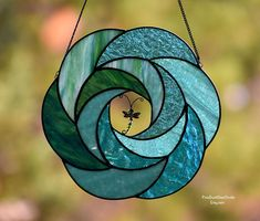 Stained Glass Suncatcher Dragonfly's Dance