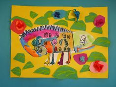 chameleons colors-my kindergarteners loved this project and they turned out great!