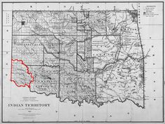 In the century, the United States government resettled Native American tribes from all parts of the country into Indian Territory. By treaty, the northern portion of what is now Oklahoma was. Texas And Oklahoma, Oklahoma Sooners, Arkansas, Ponca City, Indian Territory, Texas History, Family History, Trail Of Tears, Indian Tribes