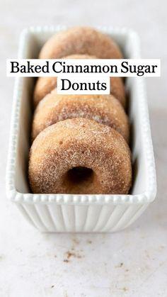 Baked Donut Recipes, Fun Baking Recipes, Baked Donuts, Dessert Recipes, Cooking Recipes, Baking Ideas, Doughnuts, Delicious Donuts, Delicious Desserts