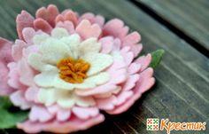 Хризантема из фетра своими руками