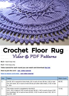 Mandala Rug, Doily Rug, Crochet Mandala Pattern, Crochet Square Patterns, Doily Patterns, Crochet Patterns Amigurumi, Crochet Doilies, Braided Rag Rugs, Crochet Kitchen