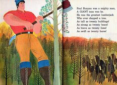 """""""Paul Bunyan and Babe the Blue Ox:, Whitman Tell-A-Tale Book, 1967  As told by Daphne Hogstrom  Illustrations by Art Seiden"""