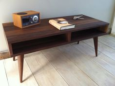 Mid century modern coffee table black walnut with by scottcassin, $795.00
