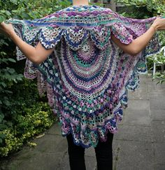 Circular Crochet Vest. Such beautiful inspiration. Other photos and instructions included.