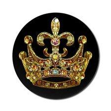 Fleur de lis Crown Jewels Ornament (Round) for