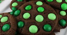 St. Patrick's Day Mint M&M Cookies - super delicious, easy to make these cookies are a great St. Patrick's Day treat for the family.