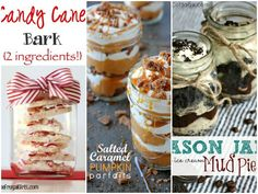 We love all the creative craftswe can make from mason jars, but lately, we've been eyeing thesetrusty containers for another reason—desserts. They're a charming way to serve the last course at yo...