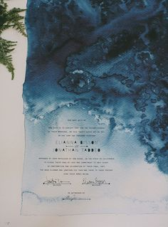 gorgeous wedding certificate