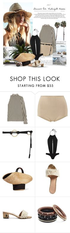 """""""Summer Love"""" by thewondersoffashion ❤ liked on Polyvore featuring Hunkemöller, MSGM, Balmain, Marni, L'Agent By Agent Provocateur, Eugenia Kim and Tory Burch"""