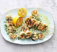 Grilling Recipes, Fish Recipes, Seafood Recipes, Dinner Recipes, Cooking Recipes, Healthy Recipes, Yummy Recipes, Dinner Ideas, Grilled Scallops