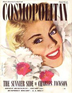 Cosmopolitan Magazine Copyright 1950 The Sunnier Side - www.MadMenArt.com   Cosmopolitan is an international fashion magazine founded in 1886.