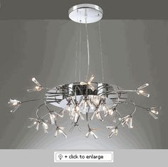"SEVILLE 21136-POLISHED CHROME Chandelier    (Supplied with 10 ft. adjustable cable),  -Supplied with quick grip cable support for quick and easy adjustment  Dimension: HEIGHT-7"" WIDTH-34"""