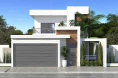 42 Best of Minimalist Houses Design [ Simple, Unique, and Modern - Home Sweet Home - Fachadas Modern Tiny House, Modern House Plans, Modern House Design, Minimalist House Design, Minimalist Home, Tor Design, House Gate Design, Facade House, House Roof