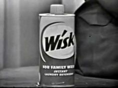 Laundry Detergent Commercial for Wisk 1957 Vintage