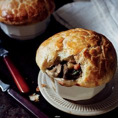 Mushroom Potpie Recipe: For a surprising twist on the original, look to the region's fall bounty of mushrooms. Recipe from Pinewood Social in Nashville, Tennessee.