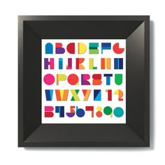 Alphabet Soup Art Print by theminifab on Etsy