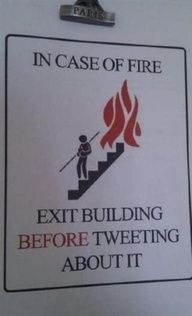 Youth Safety Tip: In case of fire exit building BEFORE tweeting about it. #Rockford'sInsuranceCoach