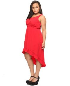 I love fire-engine red. Plus-sized. $24.80