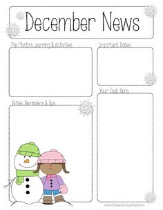Free Pre Newsletter Templates | 45 Best Preschool Newsletter Templates Images Newsletter Ideas
