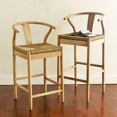 Wishbone Chair - Bar Height. how is this cheaper than a tiny metal stool? does it fit?