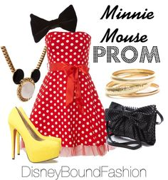 """Minnie Mouse Prom"" by disneyboundfashion ❤ liked on Polyvore"