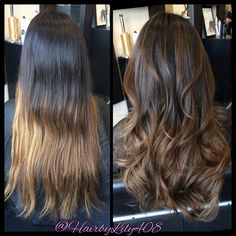 Photos of Hair By Lily - San Jose, CA. Chocolate brown balayage and long layer haircut. Brown Balayage, Balayage Hair, Color Correction Hair, Hair Fixing, Long Layered Haircuts, Hair Videos, Hairstyles Videos, Up Girl, Mi Long