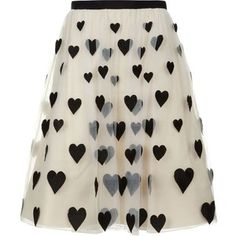Alice + Olivia Catrina Embroidered Midi Skirt Off White/Black | Harrods