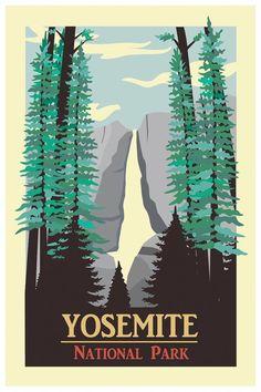 Yosemite Travel Poster Wall Decor 7 print by TheWorldTravelers Camping World Locations, Camping World Rv, Camping Spots, Go Camping, Beach Camping, Outdoor Camping, Kentucky Camping, Camping In England, Yosemite Camping