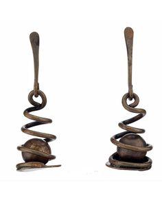 Earrings | Art Smith.  Brass.  ca. 1950.  Signed