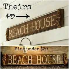 I recently saw this amazing beach sign on Pottery Barn's web page and wanted it for my wall above my TV. I'm doing a gallery wall arou...