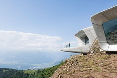Messner Mountain Museum in South Tyrol by Zaha Hadid Architects. https://www.yatzer.com/mmm-corones-zaha-hadid-architects