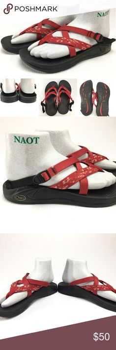 Chaco Hipthong red strappy sport sandals G4-3 Description: Chaco Hipthong red strappy sport sandals Brand: Chaco Size/Model: 8 M Condition: Pre-owned - nice  If you have any further questions or comments please feel free to contact me Chaco Shoes Sandals