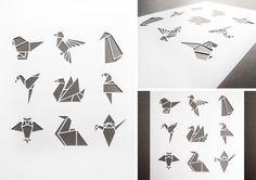 Origami Bird Papercut