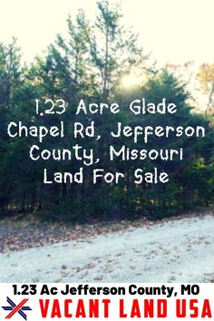 This 1.23 acre is a perfect property for someone that wants an change the lifestyle. This land is level terrain with LR-2 residential zoning located in Jefferson County, Missouri. This property is for an adventurer, hunter, or someone looking to get off the grid and have a good place to call home. Imagine having your own cabin with stunning views. Grab it today for just $14,999! #BuyLand #InvestInLand #LandForSale #VacantLandUSA Jefferson County Missouri, Investing In Land, Safe Investments, Get Off The Grid, Title Insurance, Residential Land, Vacant Land, Valley View, How To Buy Land