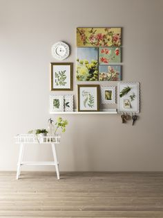 love this gallery wall (not the clock. Ikea Usa, Home Living Room, Master Bathroom, Hanger, Sweet Home, Gallery Wall, Inspiration, Shopping, Furniture