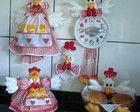 Kit de galinha para decorar cozinha (02)