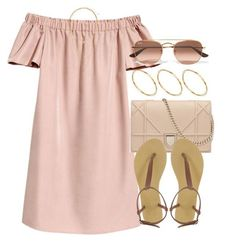 A fashion look from June 2017 featuring pink off the shoulder dress, small heel shoes and asos jewelry. Browse and shop related looks. Cute Summer Outfits, Girly Outfits, Cute Casual Outfits, Pretty Outfits, Chic Outfits, Spring Outfits, Fashion Outfits, Urban Fashion Trends, Mode Inspiration