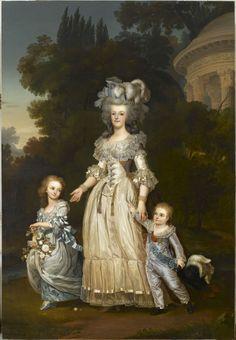 Marie-Antoinette, Madame royale et le dauphin dans les jardins de Trianon